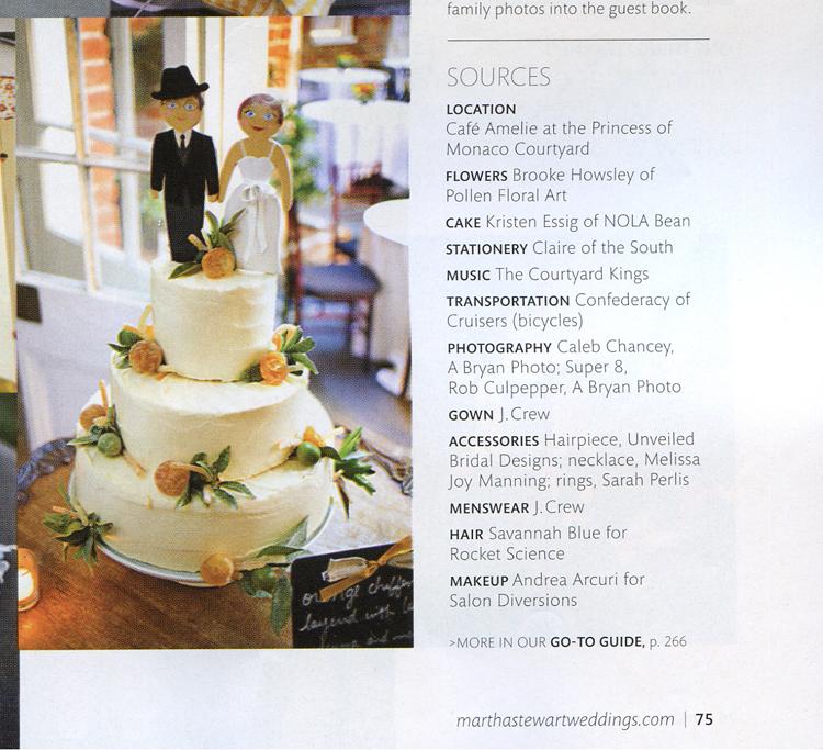I was Published in Martha Stewart Wedding