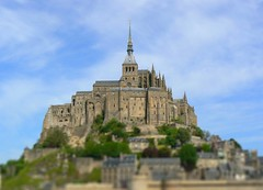 Mont St-Michel, France / tilt shift (patrick.swinnea) Tags: france church toy miniature model europe fake tiny normandie stmichel normandy mont tiltshift tiltshift12 tiltshiftmakercom