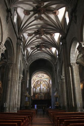 Nave central de la Catedral de Jaca