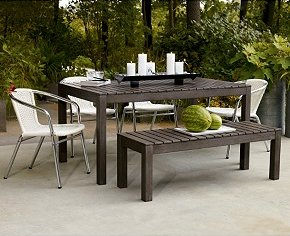 weekender dining table and bench