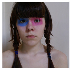 day 158. i dont know :S (victoria schofield) Tags: selfportrait face weird eyes paint victoria facepaint day158 365days
