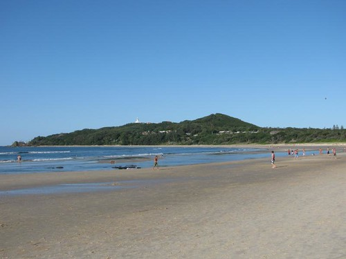 view of Cape Byron from Main beach