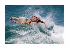 Female Power (marcowind) Tags: ocean beach water canon hawaii surf oahu wave pipeline