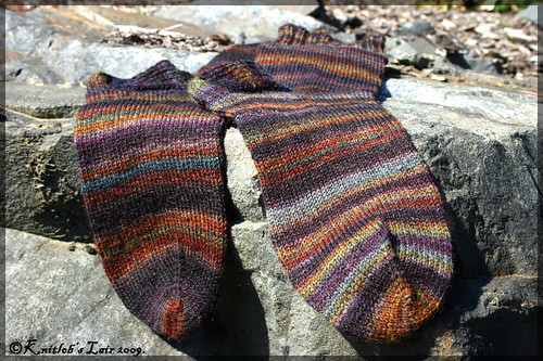 handspun socks stained glass 3