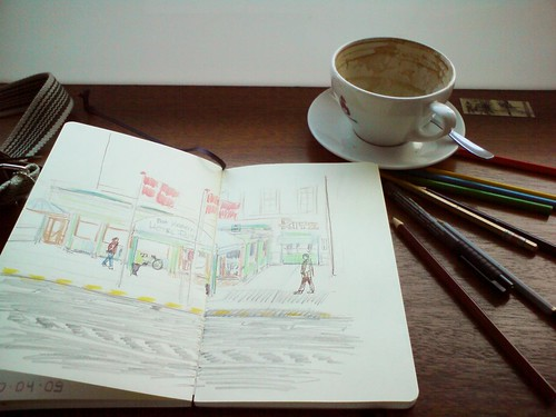 Sketching the Hotel Ritz
