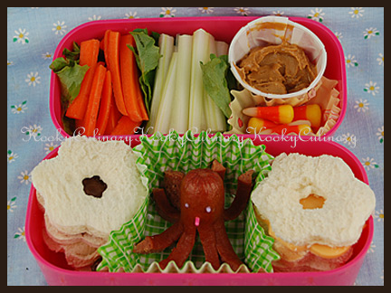 Bento #68 - Flowers & Octodogs