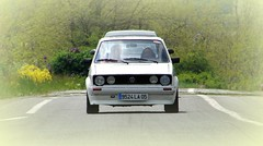 Jo Mobile (Rom_1) Tags: white golf volkswagen kit gti blanche bbs mk1