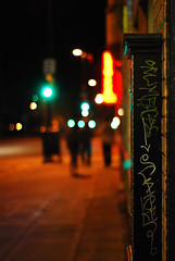Hazy Stroll Home (MarxizM) Tags: street red people green yellow metal delete10 wisconsin night delete9 walking delete5 lights graffiti delete2 bokeh delete6 delete7 tag save3 delete8 delete3 delete delete4 save save2 madison scum marker greenlight cais scumbag caiser marxizm