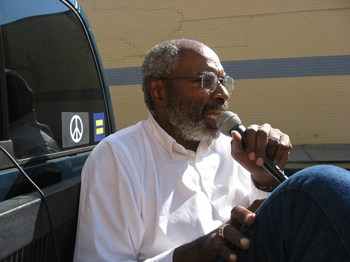 Abayomi Azikiwe, editor of the Pan-African News Wire, broadcasting from a truck riding through the west side of Detroit. The broadcast highlighted the economic crisis facing the city. (Photo: Alan Pollock) by Pan-African News Wire File Photos
