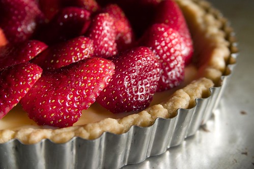 Strawberry-lemon curd tart (II)