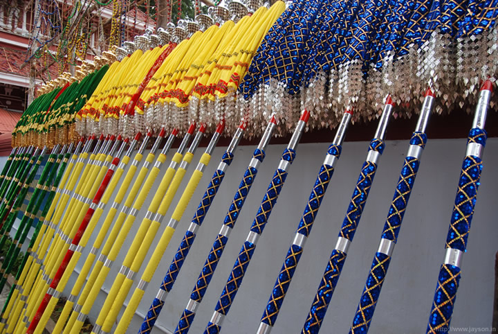 thrissur pooram - Umbrellas for the Pooram