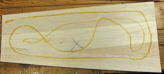 Epoxy on inside of wing skin, Initial application. (Ken RC Flyer) Tags: airplane construction spa compensator
