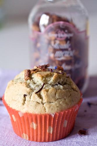 Muffin florale à la merise