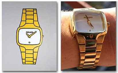 Painting: Gold Nixon Watch