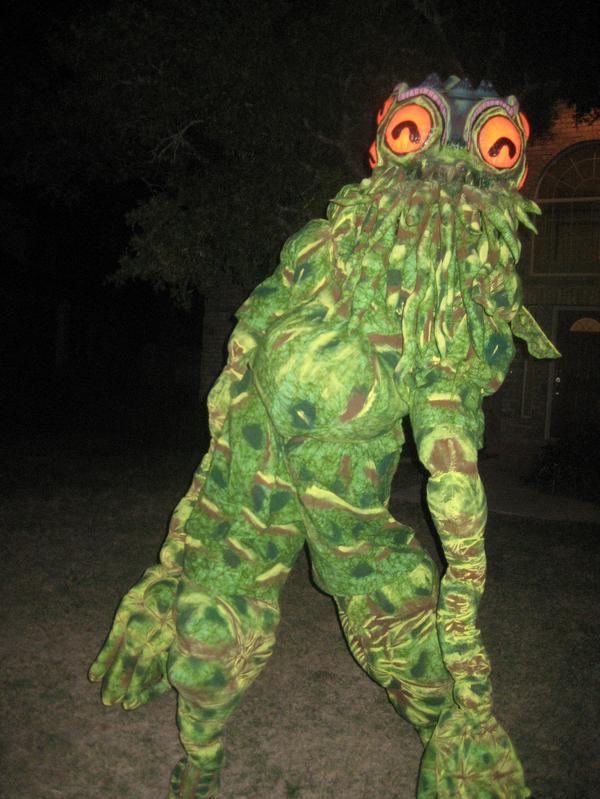 divertido disfraz de Cthulhu