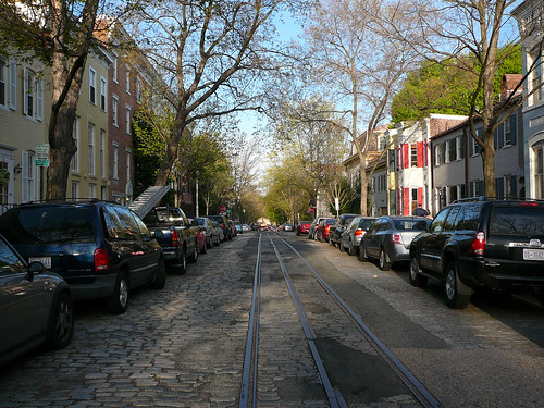 Tram lines in Georgetown that lead to nowhere