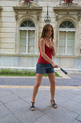 Laura (James Desauvage) Tags: street girl basketball football basket spin rue avignon nunchaku streetsport