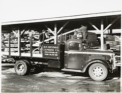 [Model T 18 #C G 26   At a Lumber Yard. R.E. B...