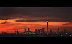 .: Wolkenbrand :. ( rednaxela_west) Tags: bridge skyline river frankfurt main brcke hdr mainhatten schaumainkai flus flickrsbest aplusphoto alemdagqualityonlyclub hdrcreativeshots