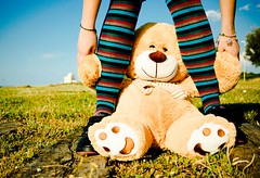 Calze or Socks (*LazzarPhoto*) Tags: green socks canon sock mare torre 1001nights colori peluche peluches calze eos400d mileto moodcreations