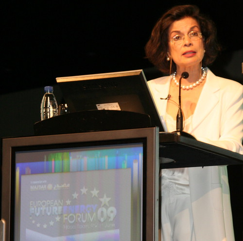 Bianca Jagger at the European Future Energy Forum
