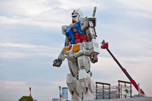 Gundam tamaño real Tokio 4