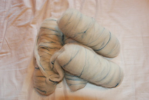 White Alpaca with Turquoise Silk