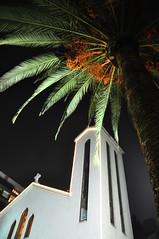 Sta Ma. de los Angs (ellamiranda) Tags: santiago church noche iglesia palmera