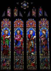 Evangelists' window, Bray (robin.croft) Tags: john matthew mark luke stainedglass berkshire anglican bray berks laversbarraud