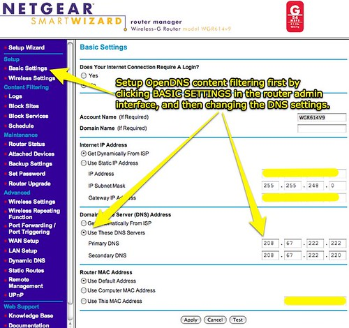 NETGEAR Router - Changing DNS settings