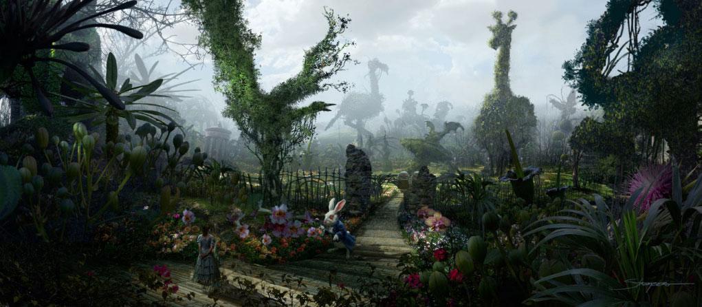 Escenario CGI Alicia en el País de las Maravillas