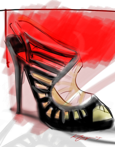 jimmy choo shoe sketch