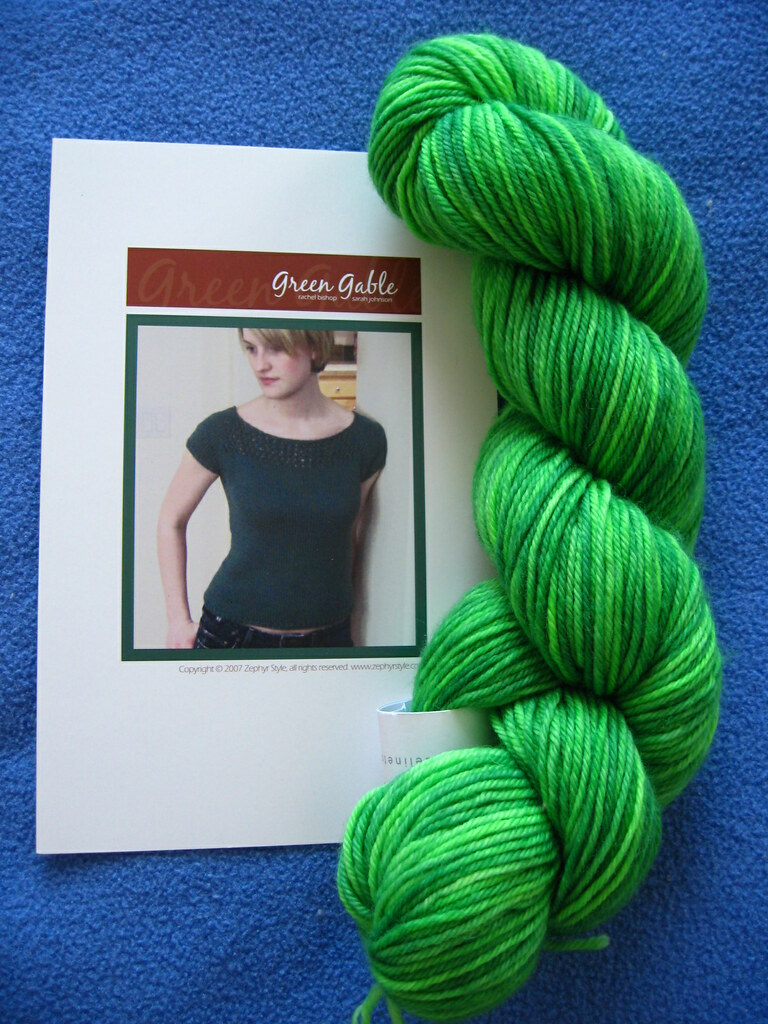 Green Gable pattern & yarn