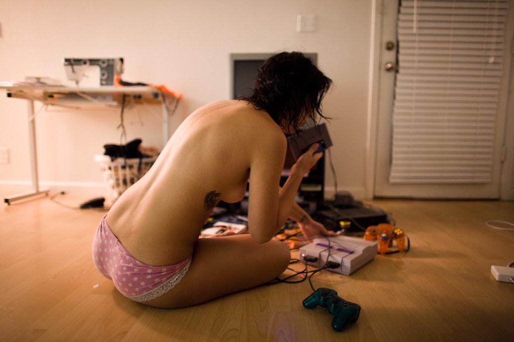 Gamer nude scene