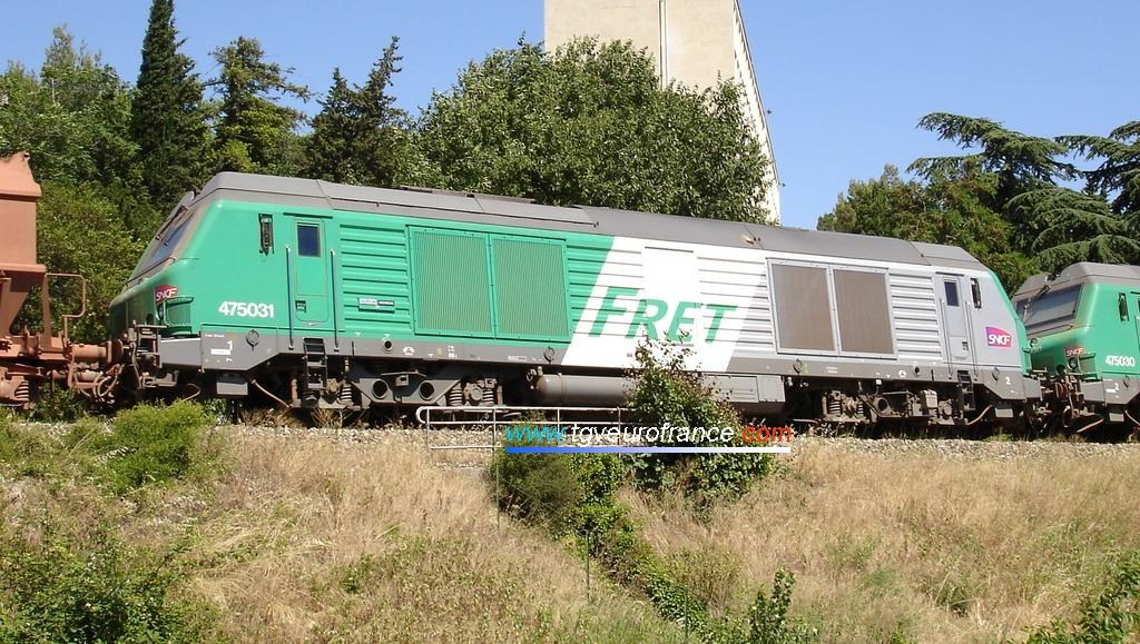 Cette locomotive BB75000 Alstom-Siemens est équipée d'un moteur V16 MTU.