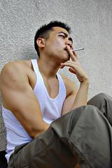 smoking... (Letranista) Tags: cute sexy smile studio asian photo model asia outdoor tag dramatic filipino drama pinoy chinito