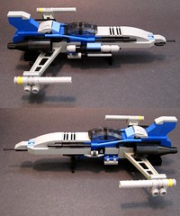 Unitron Strikefighter - Vorpal 7 - now with more grey. (Moctagon Jones) Tags: art lego micro spaceship moc microspace strikefighter starfighter unitron microscale vorpal neounitron moctagonjones