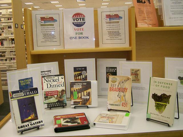 One Book Sarasota display at Selby Library May 2010 by Sarasota County Libraries
