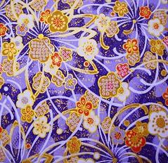DSC09430 - Japanese hand-made paper (tengds) Tags: flowers red brown violet japanesepaper washi handmadepaper chiyogami yuzenwashi tengds
