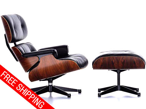 Lounge chair & Ottoman - leather chair