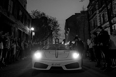 (Josh McRae) Tags: auto road city italy white black car night canon lights spider grande quebec joshua ferrari racing m josh exotic 16 3000 epic scuderia mcrae gumball