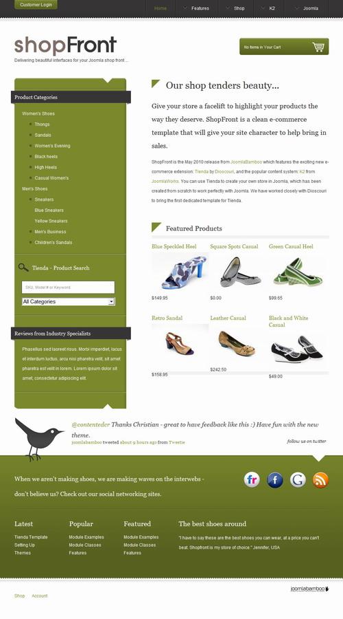 ShopFront – Tienda Joomla Shop Template[/