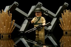 """Yeah, I found it..."" (Joriel ""Joz"" Jimenez) Tags: macro bar lego helmet pistol ww2 carbine onblack minifigure luger paratrooper steelpot favorites15 favorites20 views1000 views1250 brickarms blackreflection"