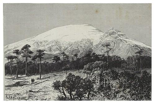 016-El Popocatepetl y el pico del Monje-Mexico-Les Anciennes Villes du nouveau monde-1885- Désiré Charnay