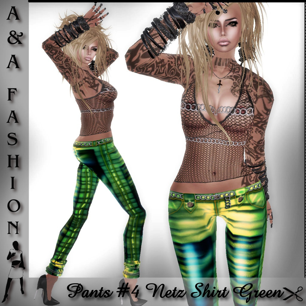 A&A Fashion Pants #4 Netz Shirt green