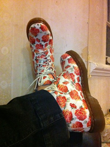 roses floral boots docs drmartens dailyimage2011