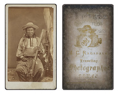 [Indian army scout, Fort Concho, Texas] (SMU Central University Libraries) Tags: gun texas rifle indians americanindians americanindian fortconcho tonkawa trapdoorrifle