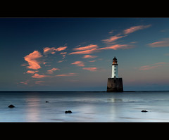 Rattray Head (angus clyne) Tags: ocean life camera uk blue light sunset red sea sky cloud lighthouse seascape storm black w