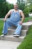 Overalls Seated (Mike WMB) Tags: bear portrait self bib converse overalls chucks 2011