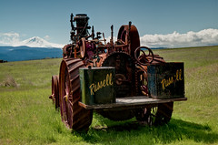 What a Fantastic View This Old Tractor Has (NW Vagabond) Tags: old tractor oregon mthood